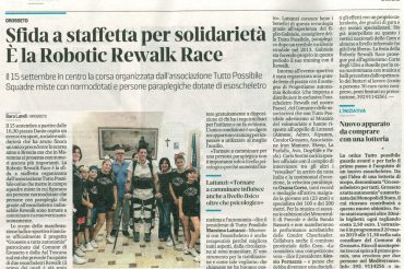 Sfida a staffetta per solidarietà. E' la Robotic Rewalk Race